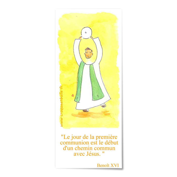 Le jour de la première communion - jaune -